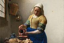 Vermeer / Llamado por sus contemporáneos Joannis ver Meer o Joannis van der Meer e incluso Jan ver Meer, es uno de los pintores neerlandeses más reconocidos del arte Barroco. Vivió durante la llamada Edad de Oro neerlandesa, en la cual las Provincias Unidas de los Países Bajos experimentaron un extraordinario florecimiento político, económico y cultural.
