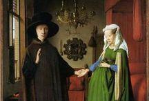 Van Eyck / Jan van Eyck (o Johannes de Eyck, Maaseik cerca de Mastrique, h. 1390 – Brujas, antes del 9 de julio de 1441) fue un pintor flamenco que trabajó en Brujas. Está considerado uno de los mejores pintores del Norte de Europa del siglo XV y el más célebre de los Primitivos Flamencos. Robert Campin, que trabajó en Tournai y los hermanos Van Eyck en Flandes, fueron las figuras de transición desde el gótico internacional hasta la escuela flamenca.