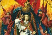 Roger van der Weyden / Rogier van der Weyden, también conocido como Rogier de la Pasture,nota 1 (Tournai, hacia 1399/1400 – Bruselas, 18 de junio de 1464) fue un pintor primitivo flamenco. Formado en el taller de Robert Campin, en 1435 fue nombrado pintor de la ciudad de Bruselas. Aunque fue pintor de mucho prestigio en su tiempo, y de los más influyentes, no se conocen obras firmadas ni existe documentación sobre contratos o recibos de pago que permitan asignarle con entera certeza ninguna obra