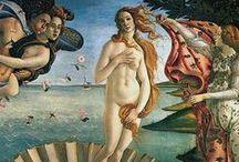 """Botticelli / Alessandro di Mariano di Vanni Filipepi (Florencia, 1 de marzo de 14451 -Florencia, 17 de mayo de 1510), apodado Sandro Botticelli, fue un pintor cuatrocentista italiano. Menos de cien años después, este movimiento, bajo el mecenazgo de Lorenzo de Médici, fue considerado por Giorgio Vasari como una """"edad de oro"""", un pensamiento que convenientemente encabezaba su Vita de Botticelli."""