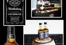 Jack Daniels Party / Jack Daniels Themed birthday party ideas, decorations and invitation, invites, invitations and gift ideas Jack Daniels party