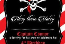 Ahoy there!!!  Pirate Party Ideas / Pirate themed birthday party ideas, decorations and invitation, invites, invitations and gift ideas, Pirate party