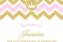 Princess Party Ideas / Princess themed birthday party ideas, decorations and invitation, invites, invitations and gift ideas,  Princess party