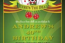 Casino Party Ideas / Casino Party themed birthday party ideas, decorations and invitation, invites, invitations and gift ideas, Casino party