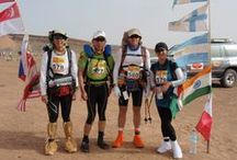 Marathon Des Sables / The Marathon des Sables (MdS) is an epic event which takes place every year in the Saharan desert of Morocco, and is arguably The Toughest Footrace on Earth. The MdS takes place over 6 days and covers 150 – 156 miles (254km) – the equivalent of 5.5 regular Marathons! It is run in 6 stages, the longest stage being around 80 plus kilometer when many of the competitors run through the night to complete it. The Marathon des Sables is ranked by the Discovery Channel as the toughest footrace on earth.