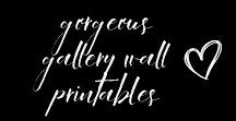 GORGEOUS GALLERY WALL PRINTABLES
