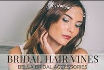 Bridal Hair Vines / A collection of our beautiful wedding hair vines / brow bands to inspire you for your special wedding or event.