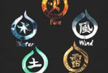 """FIVE ELEMENTS: Earth, Water, Fire, Wind, Spirit (Void) / Earth: 地 Chi (sometimes ji) or tsuchi, meaning """"Earth"""", represents the hard, solid objects of the earth. Water: 水 Sui or mizu, meaning """"Water"""", represents the fluid, flowing, formless things in the world.  Fire: 火 Ka or hi, """"Fire"""", represents the energetic, forceful, moving things in the world. Wind: 風 Fū or kaze, meaning """"Wind"""", represents things that grow, expand, and enjoy freedom of movement.  Void:  空 Kū or sora, """"Void"""", """"sky"""" or """"Heaven"""": things beyond our everyday experience."""