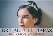 Bridal Full Tiaras / If you are looking for a sparkling full traditional tiara then we have a wonderful selection of bridal tiaras for you.