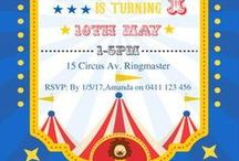 Circus Birthday Party Ideas, Carnival Party Theme / Great ideas for an amazing Circus party! Come one, come all, to the greatest birthday party of them all! Your carnival party ideas.