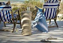 Rayures d'été / Pendant l'été on prend le large et la décoration aussi alors chaque détail nous invite au bord de l'eau avec les rayures blanches et bleus des matelots.