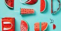 Stèque ou Pastèque / La pastèque c'est le nouveau cactus ! La pastèque envahit la décoration : housse de couette, coussin, trousse... Mais aussi la mode : maillot de bain pastèque, robe tranche de fruit... Cependant, elle est surtout la reine de la pool party, de la fête de l'été au bord de l'eau et de la piscine et du gouter d'anniversaire thème pastèque !