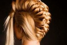 Bangs, Braids, Ponytails, Buns, Pinned / by Hairstyles & Tattoos