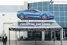 Giant Inflatable Vehicles / Giant Advertising Inflatable Cars with Tents for Car Dealers