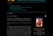 Géneros literarios / Recopilación de páginas web referentes a los distintos géneros literarios en español