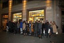 Piquadro in-store event in Barcelona