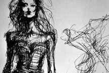 Rysunki żurnalowe-Sketches / Moda i haute couture. Szałowe kreacje, idealne proporcje i GLAM.