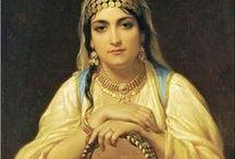 Oriental, gypsy girls / Oriental or gypsy woman in art 19th century or before