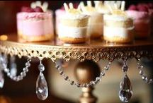 Cake Stands created by Opulent Treasures®️ / Chandelier Cake Stands & plates created and TM designs by Opulent Treasures with love! Metal cakes stands adorned with glass crystal chandelier accents. Our elegant collection of cake stands come in pedestal, tiered, loopy legs or footed styles. www.opulenttreasures.com Los Angeles