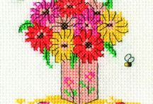Cross Stitch*❤️FLOWERS❤️ / by ~•✿•❤️Lucia Turche♥️•✿•~