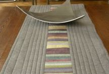 table runners to cosy up your table / who doesn't love a table runner? and even better when you make them yourself!