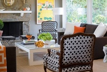 Other living room ideas / Other than green, pink and green, yellow...
