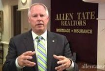 Carolinas Market Update Videos / Carolinas Market Update is a bi-monthly video update from Allen Tate President and COO Pat Riley, featuring information about home sales, prices, interest rates and other factors that affect home buyers and sellers.