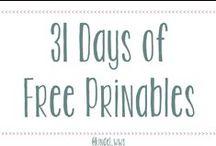 31 Days of Free Printables @ Willow White Studios