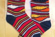 handgestrickte Socken / handgestrickte Socken