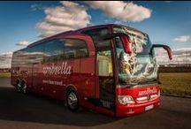Autobusy / Flotila autobusů Umbrella Coach & Buses