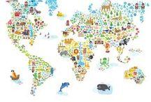 Mapas Ilustrados de Paises y Ciudades