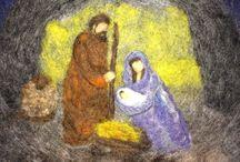 Nativity / Needle felted wool