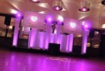 """Wedding Video Production / Here are some pictures our HD video production setups. Our screens vary from 50"""", 70"""", 72"""" and 84"""" - all 1080 HD."""