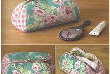 BOLSAS E CARTEIRAS / crochet e tecido