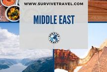 """Middle East Travel / Middle Eastern travel destinations and tips including Bahrain, Cyprus, Egypt, Iran, Iraq, Israel, Jordan, Kuwait, Lebanon, Oman, Qatar, Saudi Arabia, Syria, Turkey, United, Arab Emirates, Yemen, etc. 