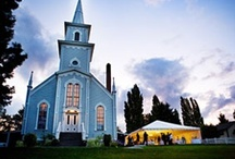 St. Paul's Church, Port Gamble, WA / The beautifully restored church, originally built in 1879, overlooks the waters of Gamble Bay and is one of the most photographed buildings in Washington State. / by Port Gamble Weddings
