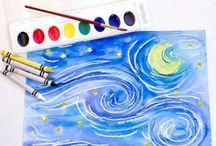 crayons - watercolor