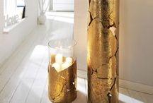 miaVILLA ♥ Metallische Töne / Kupfer-, Messing- und Goldtöne liegen im Trend. Ob Accessoires, Lampen, Kerzenhalter oder gar Fliesen an der Wand, zurzeit darf alles glänzen und rotgolden schimmern.