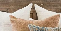 Pillows & textiles / Pillows, Textiles, throw blankets, eclectic pillows, tribal pillows, boho textiles, boho pillows, Pom Pom blankets