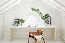 Attic Inspiration / built-out attic inspiration. Finished attic space. Ideas for attic staircases and attic space.
