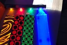 Midlightsun - Luminous fiber optic fabric / Fabrics for events: tablecloths, curtains, table runners, bedspreads, or manufacturing.