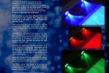 Fiber optic luminous fabric / Luminous fiber optic item for decoration, special events...