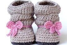 Zapatitos crochet / Zapatitos y patucos bebés
