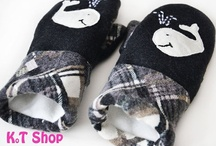 Handmade MITTENS / Hand crafted felted wool mittens