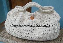 Bolsas de crochê / Minhas criações