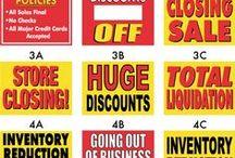 Closing and Liquidation Signs / Store Closing Signs, Going out of business signs, Liquidaton signs.