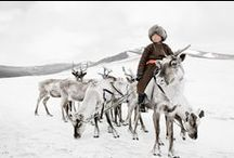 Peoples of Mongolia / Kazakh & Tsaatan. The Kazakhs are the descendants of Turkic, Mongolic and Indo-Iranian tribes and Huns. They are a semi-nomadic people and have roamed the mountains and valleys of western Mongolia. Tsaatan (reindeer people) are the last reindeer herders who survived for thousands of years inhabiting the remotest subartic taiga, moving between 5 and 10 times a year. Presently, only 44 families remain, their existence threatened by the dwindling number of their domesticated reindeer.