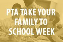 PTA Take Your Family to School Week / National PTA's Take Your Family to School Week is a program encouraging strong family engagement and the importance of partnerships among parents, teachers, and school administrators. The Take Your Family to School Week will incorporate the theme, Supporting Student Success, which will address the risks associated with a huge problem for our nation's youth: dropping out of high school.  / by National PTA