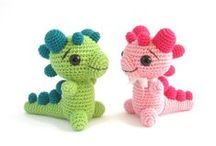 CROCHET -  DINOS - DRAGONS - MONSTRES / MONSTERS / by M. J.