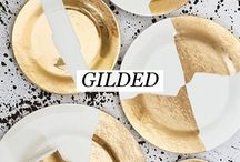 [ Gilded ] / Gilded - Adding old Hollywood glamour to your home with gold accents.  Gold & metallic interior design inspiration curated by Willetts Design.